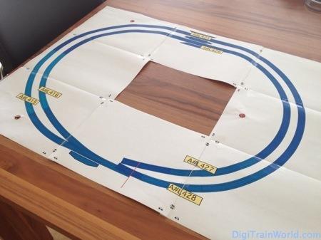 Le plan des voies imprimé à l'échelle 1:1