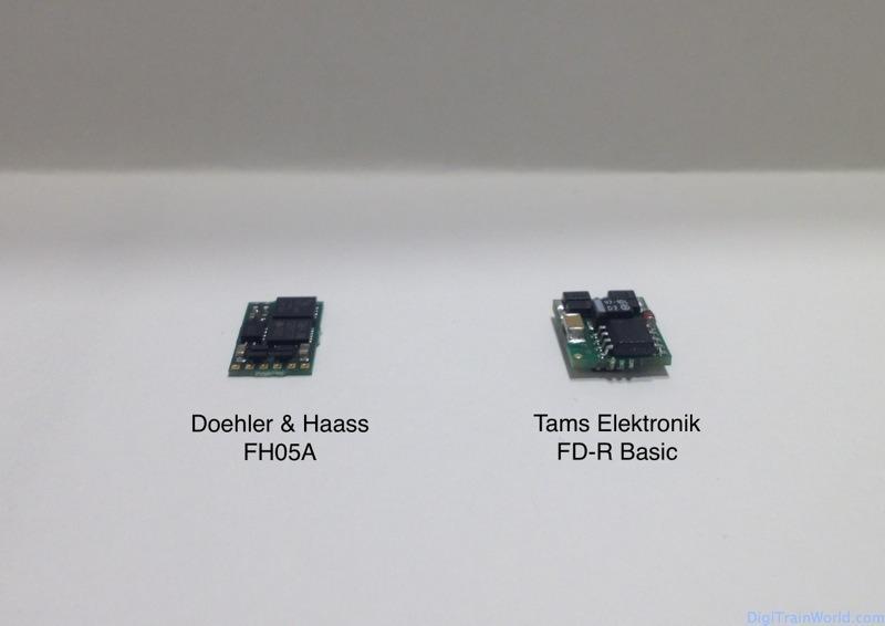 Décodeurs de fonctions: Tams FD-R basic et DH FH05A
