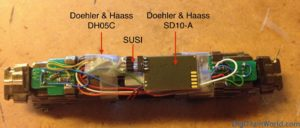 Hobbytrain 2962 and Doehler & Haass DH05C decoder, SD10A sound module