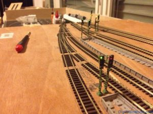 My N-scale layout - Station signals
