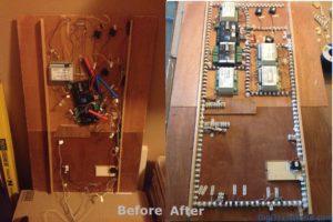 Mon réseau (échelle N) - Nettoyage du câblage sous un module