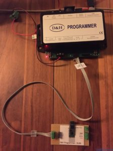 Custom board, loading sounds into a SD18A sound decoder.