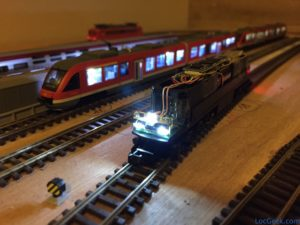 Locomotive Brawa Ludmilla - Conversion DCC, nouvelle platine LED