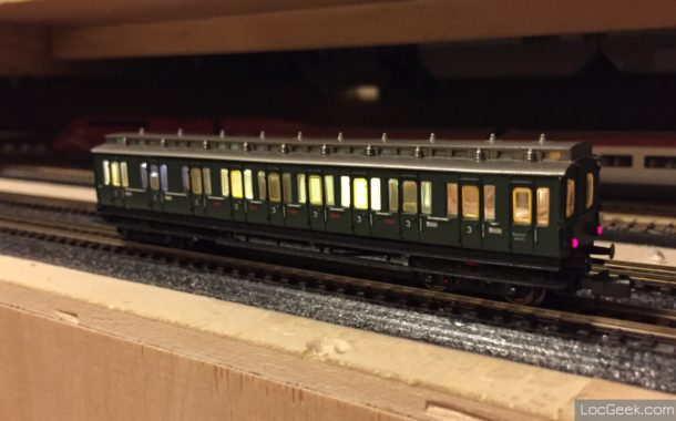 Old Arnold ES88 railcar DCC conversion